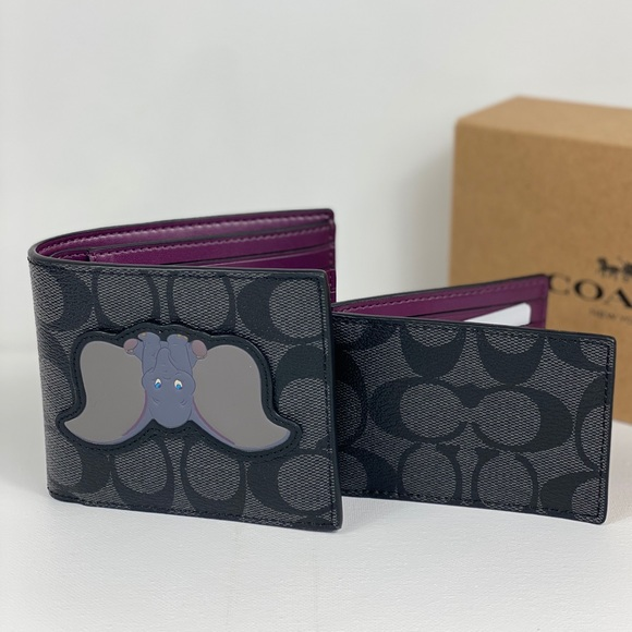 Coach Other - NWT Coach x Disney 3 IN 1 Signature Wallet Dumbo